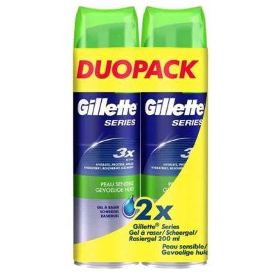 Gillette Series gel de rasage peau sensibles